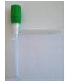 Válvula de paso 90 ° PTFE, Rotaflow 0-4 mm