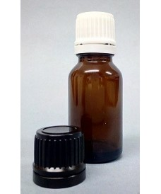 15ml Amber Glass Dropper Bottle & Tamper Evident Cap