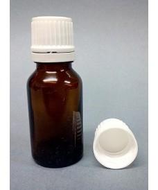 Flacon jaune 10 ml bouchon inviolable DIN18
