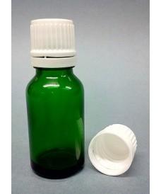 Flascó 10 ml amb tapa rosca DIN18 verd