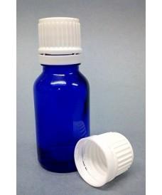 Frasco rosca 30 ml con tapa DIN18 azul
