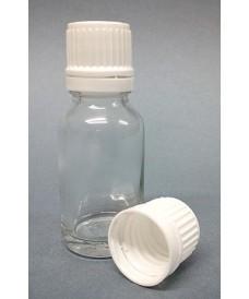 Flascó 100 ml amb tapa rosca DIN18 transparent