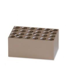 Bloque metálico 24 tubos 0,5 ml