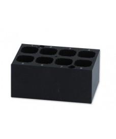 Bloque metálico 8 cubetas 12.5x12.5 mm
