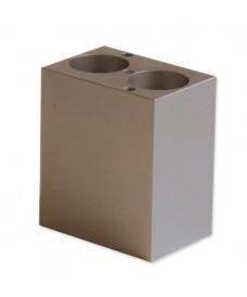 Bloque metálico 2 tubos 50 ml
