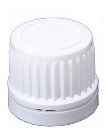 18 mm White Screw Cap with Tamper Evident & Inner Disc