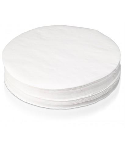Paquete papel filtro corriente plano 70 mm