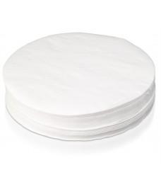 Paquete papel filtro corriente plano 130 mm