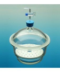 Dessiccateur verre avec robinet à pointeau et plaque 250mm