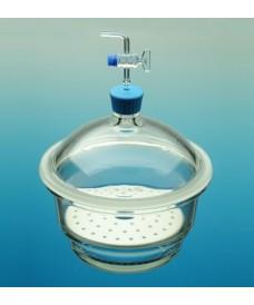 Dessiccateur verre avec robinet à pointeau et plaque 300mm