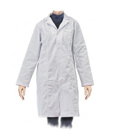 Bata blanca de cotó de laboratori dona