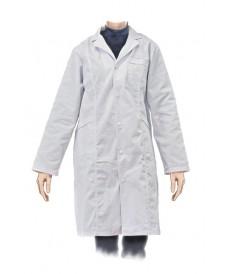 Bata blanca de laboratorio para mujer