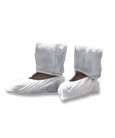 100 White Disposable Shoe Covers