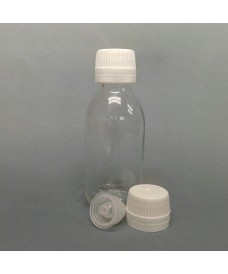 250ml Clear Glass Sirop Bottle & Single Hole Insert for Syringes
