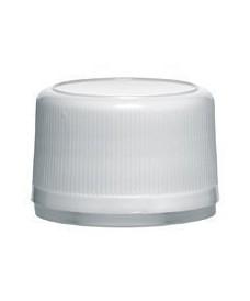 Bouchon inviolable blanc PP28 avec joint obturateur
