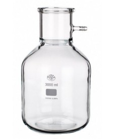 5000 ml Filter Flask, Cylindrical Shape & Glass Connector