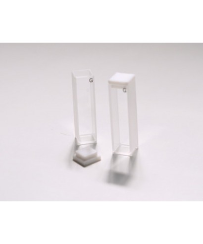 Cubeta de vidrio para espectrofotómetro 40 mm luz