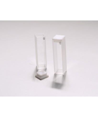 Cubeta de cuarzo para espectrofotómetro 40 mm luz