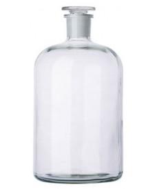 Flacon blanc à col étroit 5000 ml et bouchon en verre rodé