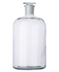 5000ml Clear Reagent Bottle, Narrow Mouth & Ground-Stopper