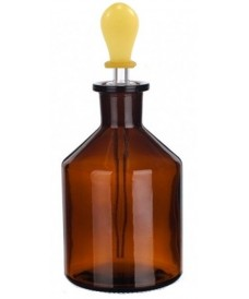 100 ml Amber Glass Dropping Bottle & Ground-Glass Pipette