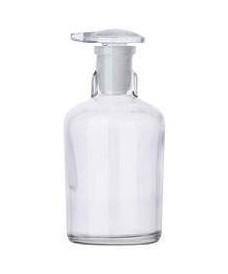 Flacon compte-gouttes blanc 100 ml avec bouchon verre
