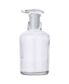 Frasco 100 ml blanco tapón vidrio