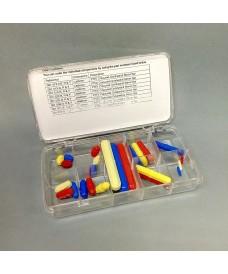 Boîte de 24 aimants octogonaux recouverts de téflon