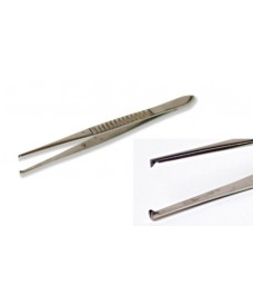 Pinza disección con dientes 1:2 140 mm
