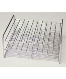 Porte-tubes à essais acier inoxydable 100 tubes 18 mm