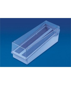 Caixa de plàstic per a 100 preparacions
