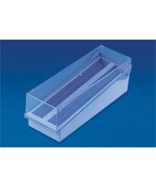 Caja de plástico con bisagra 100 preparaciones