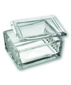 Boîte à coloration Schieferdecker en verre pour 10 lames porte-objets