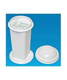 Polypropylene staining jar Coplin 5 slides