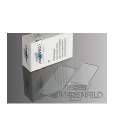50 Marienfeld-Superior Microscope Slides, Cut Edges & 90°