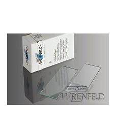 Caja 50 portaobjetos superior bordes cortados cantos 90°