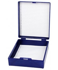 Box for Microscope Slides, 25 Slides