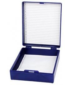 Caja de plástico con bisagra 25 preparaciones