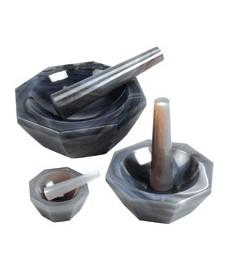 Mortier en agate avec pilon 80 mm