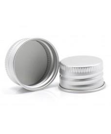 Bouchon à vis 28 mm aluminium argent