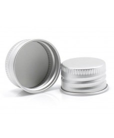 28mm Silver Aluminium Screw Cap