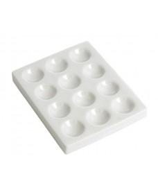 Placa de porcelana con 12 cavidades