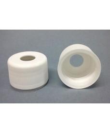Bouchon compte-gouttes blanc inviolable PP28 avec orifice
