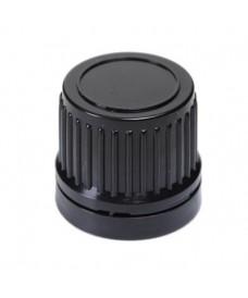 Bouchon noir DIN18 inviolable avec disque intérieur