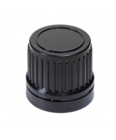 18 mm Black Screw Cap with Tamper Evident & Inner Disc