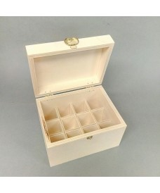 Caja de madera para frascos