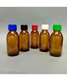 Frasco rosca 30 ml con tapa PP28 ámbar