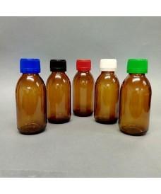 Flascó 125 ml amb tapa rosca PP28 topazi