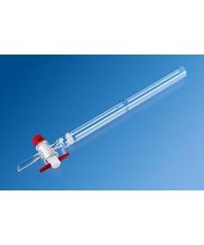 Colonne de chromatographie verre borosilicaté robinet PTFE 125 ml