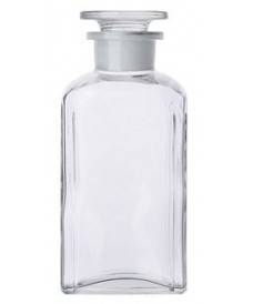 250ml Square Clear Reagent Bottle & Ground-Stopper